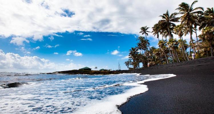 Punalu'u Beach, the Big Island